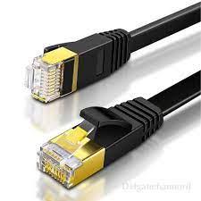 Satın Al Kedi 7 Ethernet Kablosu 10000 M Düz Internet LAN Yama Kordon  Yüksek Hızlı Altın Kaplama RJ45 Ağ Tel Yönlendirici Bilgisayar Için,  TL11.65