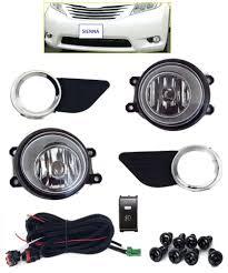 fog light kit for toyota sienna 2016 2016 lamps harness chrome w black bezels