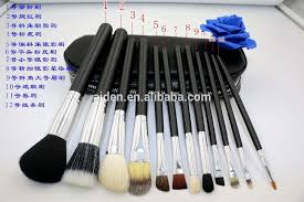 aiden china hot 12pcs travel makeup brush with bag s factory