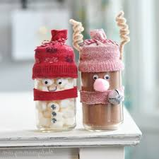 Decorated Jam Jars For Christmas Dining Room Dazzling Hot Chocolate And Marshmallow Jar Snowman 53