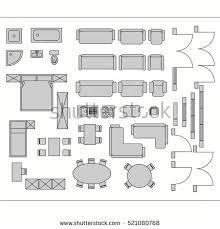 Vectorimagesetoffurnitureappliancesandcarvector Furniture Icons For Floor Plans