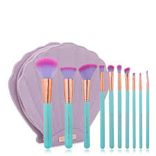 spetrum the glam clam makeup brush set ready stock