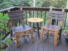 furniture made from wine barrels. dining chair made from oak wine barrel staves red stain shown on seat and back this is very solid comfortable shipping cost extra furniture barrels