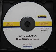 Tg Catalog New Holland T8010 T8020 T8030 T8040 T8050 Tractor Parts Catalog Manual Tg Series Ebay