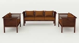 verona 7 seater solid teak wood sofa set in gany finish