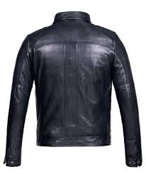corbani mens hooded leather er jacket back no