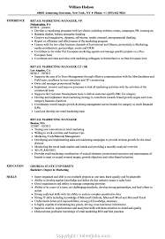 Kroger Resume Examples Best Kroger Store Manager Resume Retail Marketing Manager Resume