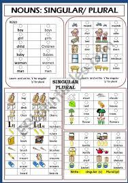 Nouns Singular Plural Esl Worksheet By Jhansi