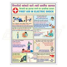 Laboratory First Aid Chart Electrical First Aid Chart With Wooden Frame