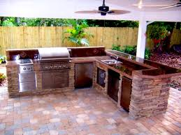 Building An Outdoor Kitchen Outdoor Kitchens Florida Brick Pavers
