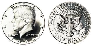 1967 Kennedy Half Dollar Value Chart 1964 Kennedy Silver Half Dollar 90 Silver Coin Value Prices