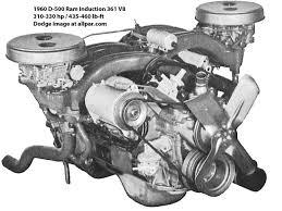 dodge cars dart polara and matador d500 engine