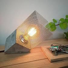 concrete table lamp. Industrial Concrete Table Lamp Inclined, Lamp, Concrete, Desk Edison Light, Bulb, \