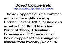 english mr rinka lesson david copperfield by charles 2 david copperfield