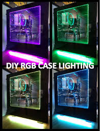 picture of rgb led computer case lighting magnetic