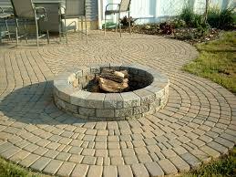 diy round brick fire pit fireplace design ideas