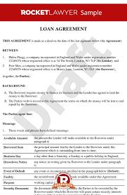 Family Loan Template Family Loan Agreement Template Free Uk Loan Agreement Loan Contract