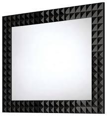 Diamond Wall Framed Mirror Contemporary Bathroom Mirrors by