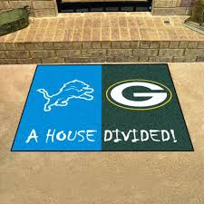 green bay packers rug lions green bay packers house divided all star area rug mat