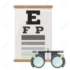 Eye Vision Test And Trial Lens Frame Poor Eyesight Myopia Diagnostic