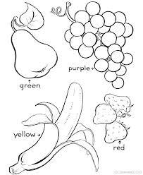 Fruit Coloring Sheets Basket Pages Fruits Manga Printable For Kids
