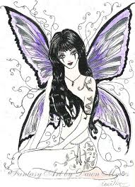 Gothic Fairy Coloring Pages Printable Dark Ilovezclub