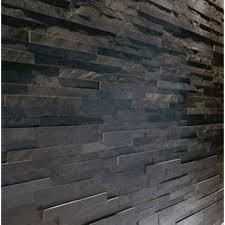 Stone Wall Tiles Kitchen Splitface Black Slate Mosaic Tiles Sample Z Tile 3d Stone