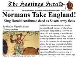 A Newspaper Article Norman Invasion Battle Of Hastings Newspaper Article Y3 4 Example