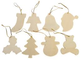 Item# WS812 Small Unfinished Wooden Christmas Ornaments ...
