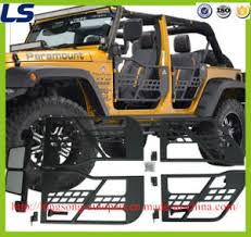 for jeep wrangler jk 2 4 door tubular doors with reflection mirror