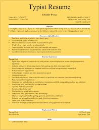 Typist Resume Samples For Microsoft Word Doc