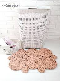 small square bath mat crochet mats spa gift bathroom rug set small bath rug