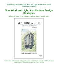Sun Wind And Light Architectural Design Strategies Read Pdf Sun Wind And Light Architectural Design