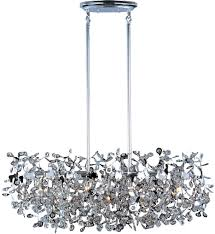 maxim lighting 24206bcpc comet polished chrome 7 light linear pendant undefined