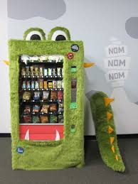 Monster Vending Machines Magnificent Four Courses With The Goodie Monster Under The Table With Jen