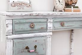 distressing furniture with chalk paint. Chalk Paint Distressed Kids Desk On Distressing Furniture With
