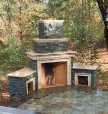 image of prefab outdoor fireplace kit