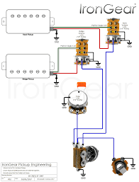 2 pole 2wire diagram wiring library irongear pickups wiring humbucker coil diagram 2 x humbuckers 2 volume switched 2wire