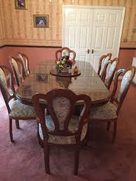 italian dining table 8 chairs cupboard and tall corner unit
