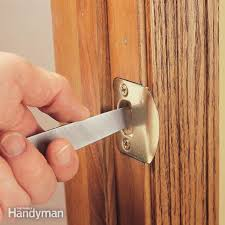 to fix a door that won t latch simply file the edge of the strike plate until the latch s into place it s a five minute fix