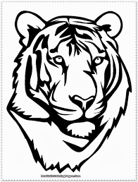 white tiger head printables - Google Search | Arts and Crafts ...
