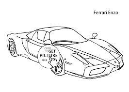 Easy Coloring Pages Cars With Super Car Ferrari Enzo Coloring Page