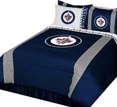 nhl winnipeg jets bedroom set hockey logo bedding dry full