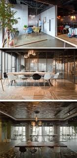 comfortable home office graphic design station. Brilliant Home Wood Glass And Concrete Play An Important Role In This Office Interior  Design For Comfortable Home Office Graphic Design Station