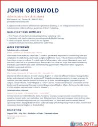 Executive Assistant Resume Template Luxury Resume Examples 2017