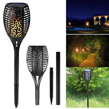 outdoor torch lighting. Image Is Loading 96-LED-Solar-Torch-Light-Dancing-Flame-Lighting- Outdoor Torch Lighting