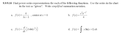 Solved 9 9 9 10 Find Power Series Representations For Eac