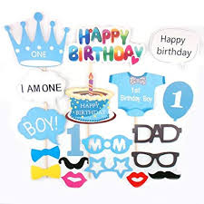 Amazoncom Losuya Baby Boy 1st Birthday Party Photo Booth Props