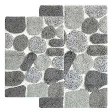 grey bath rug 2 piece bath rug set in grey