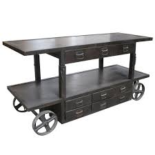 industrial iron furniture. albert industrial adjustable top trolley iron furniture
